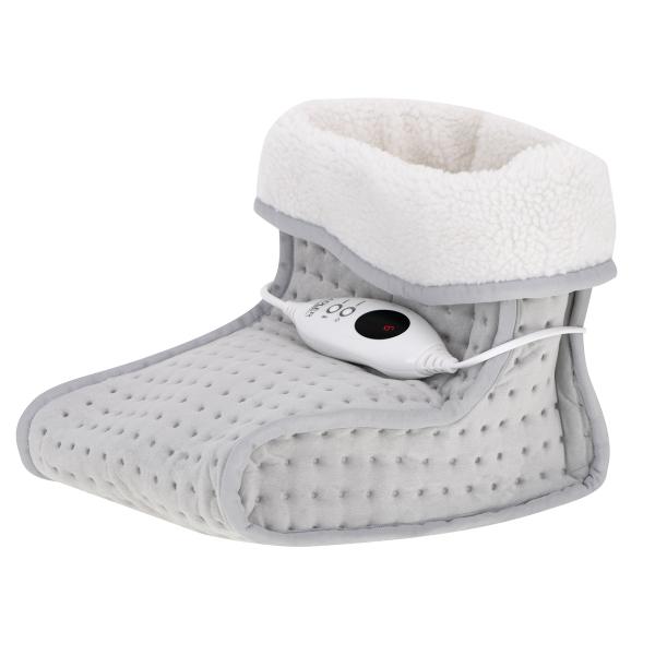 Incalzitor picioare cu telecomanda, 6 niveluri incalzire, cronometru, material moale, gri 0