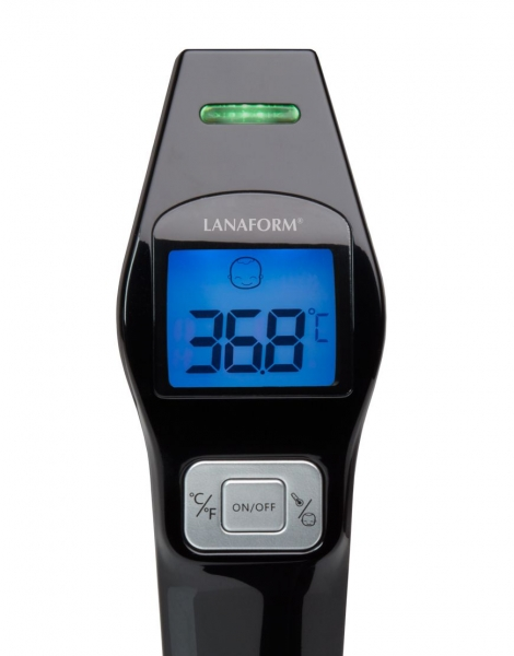 Termometru cu infrarosu Lanaform IR digital non contact pentru corp si alte suprafete, precis si igienic, include 2 baterii AAA alcaline 2