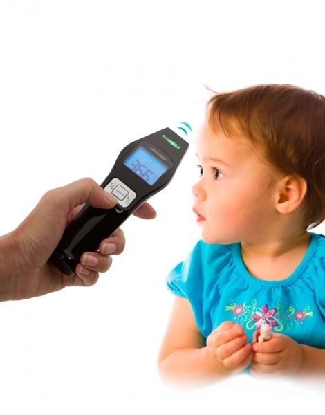 Termometru cu infrarosu Lanaform IR digital non contact pentru corp si alte suprafete, precis si igienic, include 2 baterii AAA alcaline 0