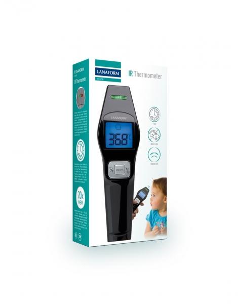 Termometru cu infrarosu Lanaform IR digital non contact pentru corp si alte suprafete, precis si igienic, include 2 baterii AAA alcaline 5