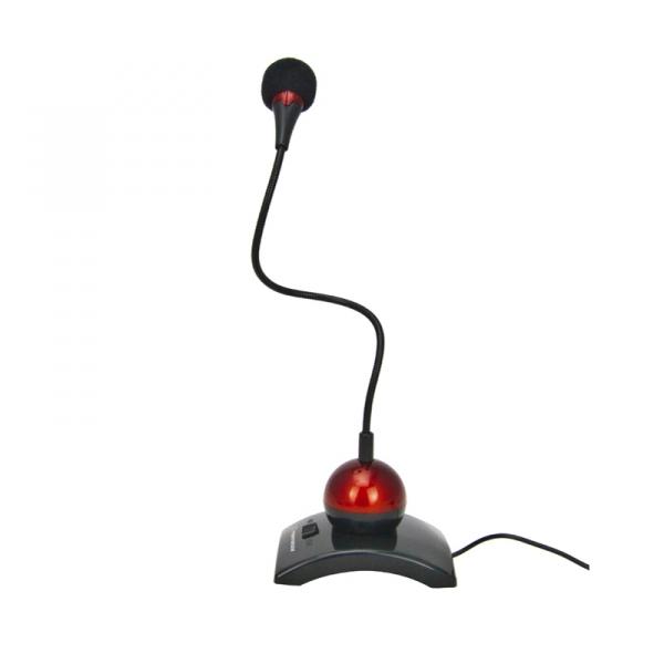 Microfon pentru laptopuri si calculatoare Chat, jack 3.5mm, cablu lung 2 m, rosu [1]