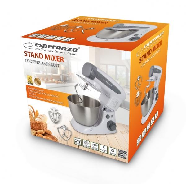Mixer profesional cu bol Esperanza - Assistant Cooking, 800W, 4L 2