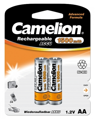 Acumulatori  R06 AA, 1500 mAh, blister de 2 buc, Camelion 0
