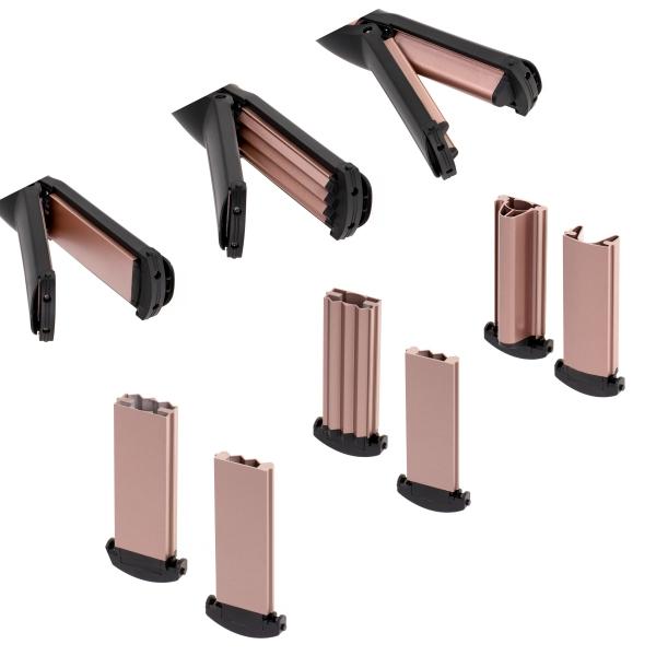 Perie electrica 5 in 1 cu 5 capete, indreptare, ondulare, creare valuri, negru-rose 1