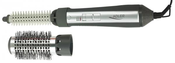 Perie electrica Adler AD203 cu aer cald 550W, 2 capete interschimbabile utile pentru uscare sau coafare [7]