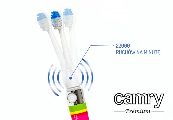 Periuta de dinti sonica cu cap rezereva  22000 miscari pe minut 3