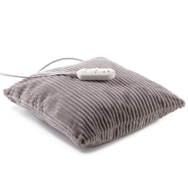 Perna electrica cu incalzire, 2 trepte temperatura, 38x38 cm, material placut, control telecomanda, gri 3