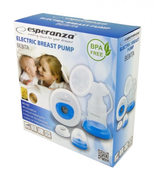 Pompa de san electrica Bebita cu 2 moduri de lucru stimulare si aspirare  9 niveluri, 3 surse de alimentare 1