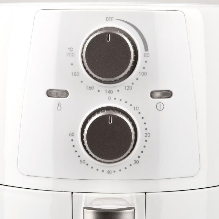 Friteuza cu aer cald fara ulei Girmi FG94 capacitate 3.5L, timer, termostat reglabil 80-200 grade, alb [6]