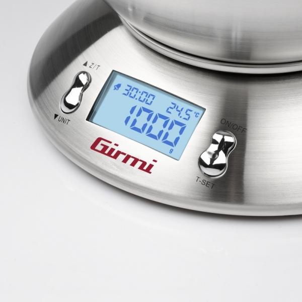 Cantar de bucatarie electronic cu bol inox mare Girmi, capacitate max. 5 kg, diviziune 1g, functie tare si zero 2