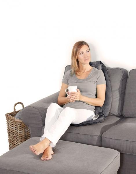 Saltea masaj Lanaform - Relax Mass cu incalzire si vibratii, masaj Shiatsu, 3 zone masaj, 3 intensitati, 68,8x15,2x45,7 cm 1