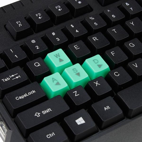Tastatura gaming USB, iluminata LED verde, 104 taste, Shadow Esperanza 3