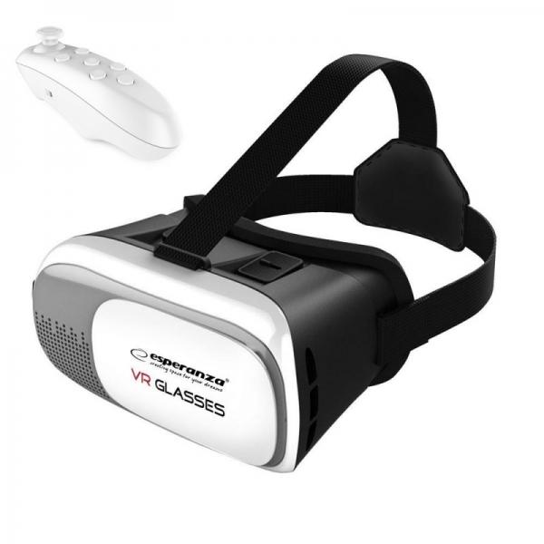 Ochelari VR 3D cu Telecomanda bluetooth, control jocuri 0