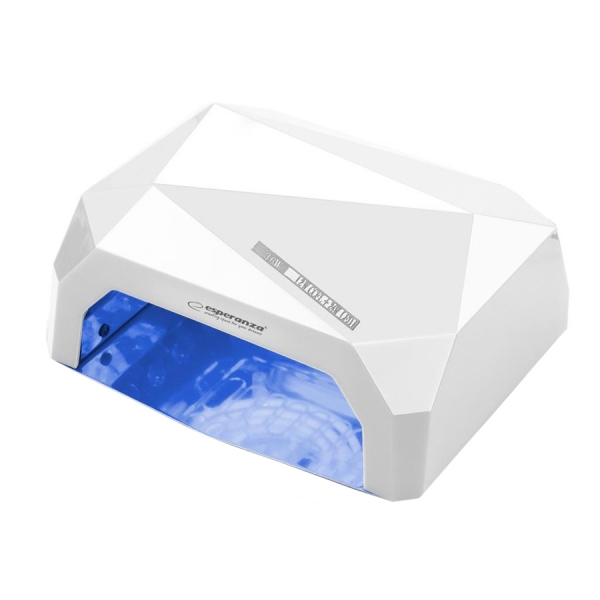 Lampa UV pentru unghii Esperanza, 36W, 12 x Led, temporizator, Alb 0
