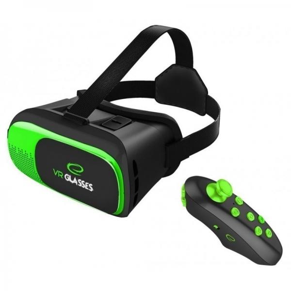 Ochelari VR 3D smartphone 3.5-6 inch, telecomanda bluetooth, Android iOS, Esperanza 0