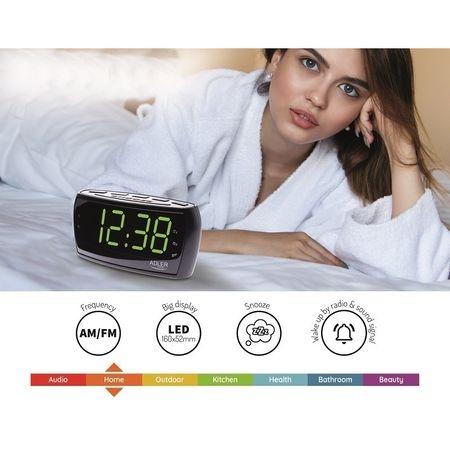 Radio ceas cu alarma si display mare verde relaxant LED 16 cm 2
