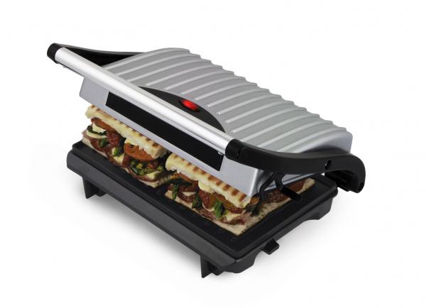 Sandwich Maker si gratar 2 in 1 cu suprafata antiaderenta 230 X 145 cm 750W 0