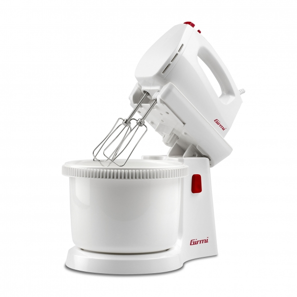Mixer de mana cu bol Girmi - SB81 2,8l, rotatie automata, 5 viteze si functie turbo, accesorii inox 1