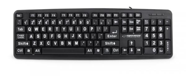 Tastatura Senior conectare USB cu inscrisuri mari pentru persoane in varsta sau cu deficiente de vedere 1