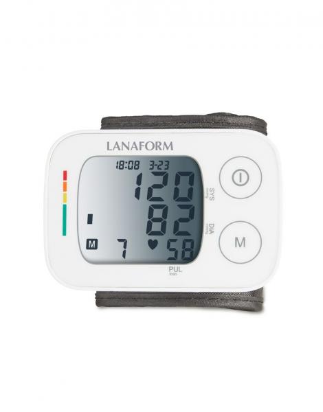 Tensiometru de incheietura Lanaform masuratori precise, total automatizat, ecran LCD, functie de monitorizare a tensiunii arteriale si a ritmului cardiac, memorie masuratori, portabil 0