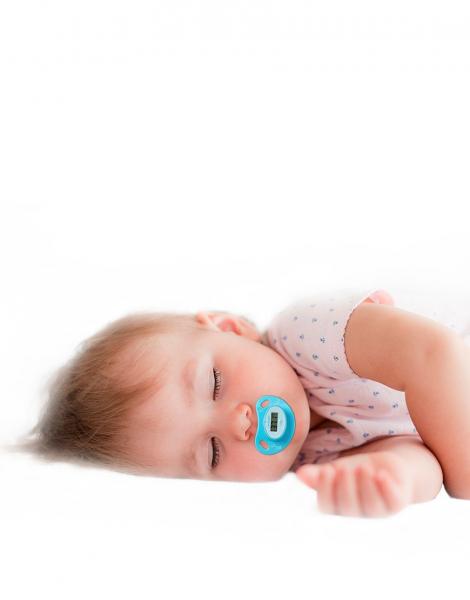 Termometru pentru copii tip suzeta, ecran LCD indicator febra, baterie slaba, semnal sonor, baterie CR2032 CADOU 4