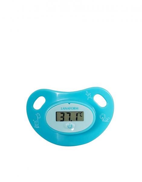 Termometru pentru copii tip suzeta, ecran LCD indicator febra, baterie slaba, semnal sonor, baterie CR2032 CADOU 2