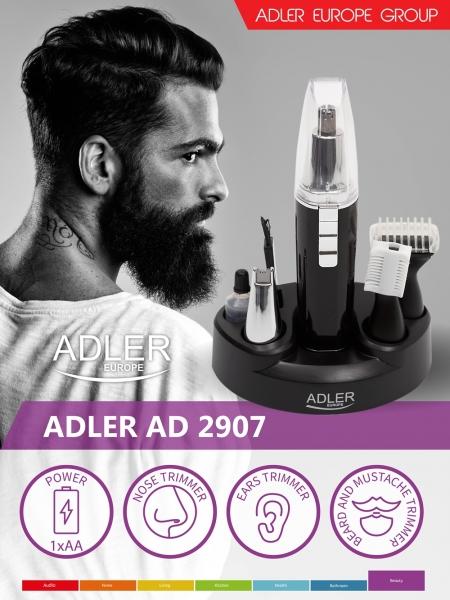 Trimmer 4 in 1 pentru tundere par nas, urechi, sprancene, barba si mustata, alimentare baterie AA 5