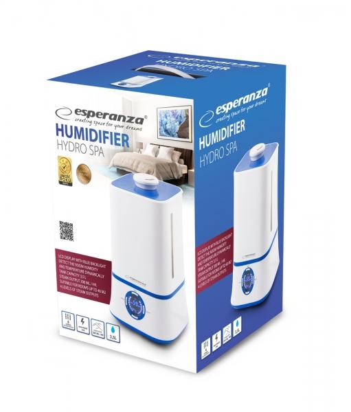 Umidificator aer 3.5L, ecran LCD cu afisaj monitorizare umiditate si temperatura in camera, functionare silentioasa autonomie pana la 11 ore  cu o alimentare 1
