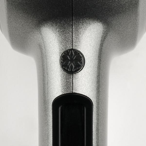 Uscator de par vintage Girmi - Retro '50 cu 3 trepte temperatura, 2 viteze, 1800W, concentrator, cool shot, gri [3]