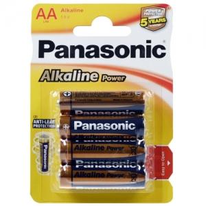 Baterii Panasonic LR06 AA Alkaline Power, pret pe  blister de 4 bucati0