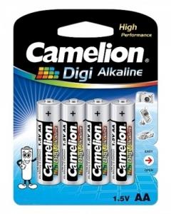 Baterii Digi Alkaline Camelion LR6 AA, blister de 4 buc1