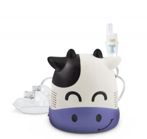 Aparat de aerosoli nebulizator cu aspect de vacuta pentru copii si pentru adulti, cu compresor, kit complet de accesorii inclus1