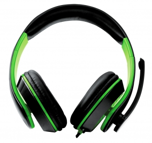 Casti stereo cu microfon de inalta fidelitate si control de volum pe fir pentru gamers, Condor verde [0]