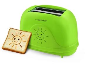Prajitor de paine toaster cu modele Smiley cu 3 functii de la 1 pana la 7 grade diferite de prajire de la moale pana la crocant oprire automata3