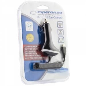 Incarcator auto micro USB cu fir 5V/1000mAh  functional la priza pentru autoturisme  12v  sau masini de teren si  autoutilitare electrica pe 24 Volti [1]