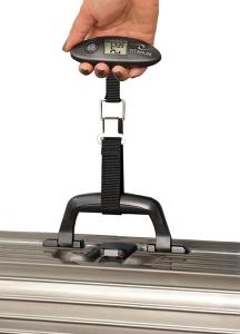Cantar digital pentru bagaje si colete, cu ecran LCD ideal calatorii datorita dimensinilor mici + baterie CR2032 3V cadou2