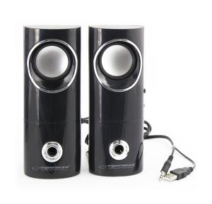 Boxe 2.0 BEAT, compatibil PC, mini-jack de 3,5 mm pentru casti si USB, negru-gri0