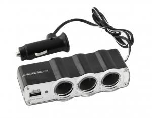 Incarcator telefon si dispozitive mobile port  USB  pentru Auto cu splitter 3 iesiri prize bricheta pentru folosirea concomitenta a aparatelor0