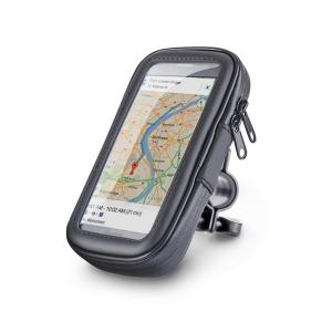 """Suport Telefon pentru bicicleta si motocicleta, rezistent la umezeala, marimea L ecran pana la 5.5"""", rotatie in jurul axei 360 ° [2]"""