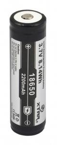 Acumulator 3.7 V 18650 Litiu-ion Xtar 2200mAh pentru tigari electronice, boxe bluetooth, alte dispozitive0