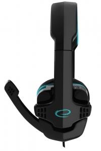 Casti stereo etansare perfecta pe urechi cu microfon, pentru gaming si muzica, Raven Gaming Albastru design modern conectare 2 x jack 3.5 [1]