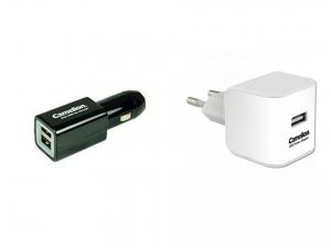 Set incarcator auto dublu USB si incarcator de priza cu USB, protectie la scurtcircuit, la supraincarcare si supraincalzire [0]