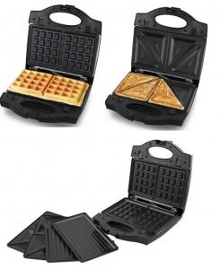 Sandwich Maker Portabella multifunctional 3 in 1cu placi detasabile pentru  waffe, grill sau sandwich [0]