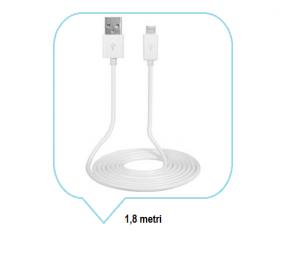 Cablu date si alimentare MICRO USB 2.0 A-B M / M 1.8 metri culoarea alba [1]
