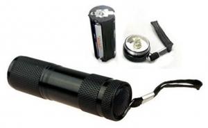 Lanterna  din aluminiu cu 9 LED-uri superluminoase  rezistenta la socuri si umezeala culoare neagra1