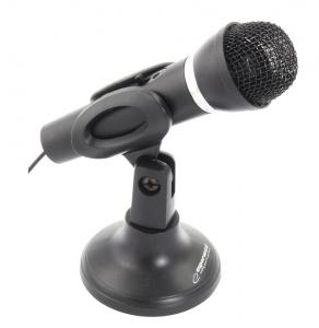 Microfon cu stativ pentru calculatoare si laptopuri Sing, alimentare jack 3.5 mm cablu 1.5m culoarea neagra0