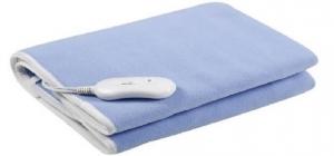 Patura electrica 150*80 pentru incalzire, culoare albastru polar, uz ca patura pentru saltea sau pentru acoperirea corpului1