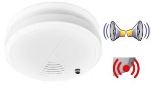 Alarma detector  pentru fum cu senzor optic pentru protectie si prevenire incendii baterie 9v inclusa0