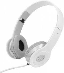 Casti stereo albe EH145 de inalta calitate, control al volumului pe fir, reglabile si rezistente, conectare fara interferente prin jack 3.5mm0