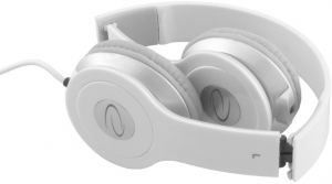 Casti stereo albe EH145 de inalta calitate, control al volumului pe fir, reglabile si rezistente, conectare fara interferente prin jack 3.5mm1